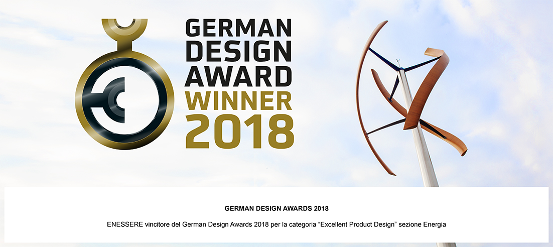 ENESSERE vincitore del German Design Awards 2018 per la categori
